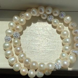 Honora White Stretch Bracelets